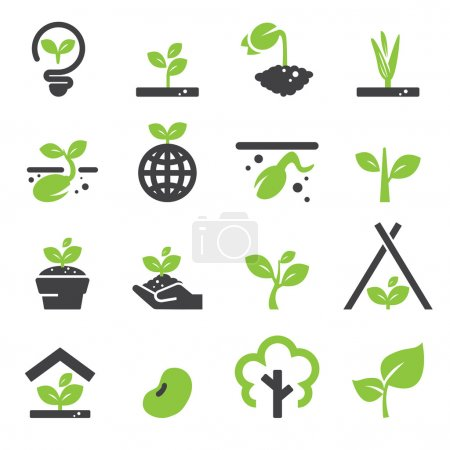 Illustration for Sprout icon set - Royalty Free Image