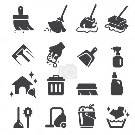 Illustration for Cleaning icon - Royalty Free Image