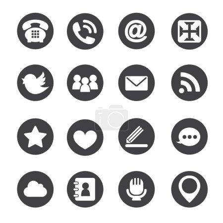 Web communication icons  internet vector set