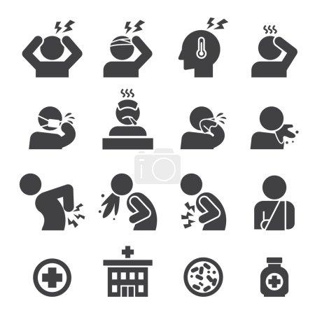 Illustration for Sick icon set - Royalty Free Image