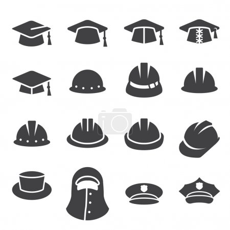 Illustration for Hat icon set - Royalty Free Image