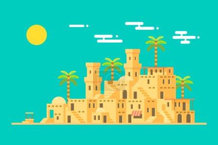 Ville de brique village Moyen-Orient boue du désert