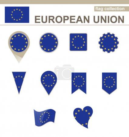 Collection de drapeau de l'Union européenne