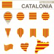 Catalonia Flag Collection, 12 versions...