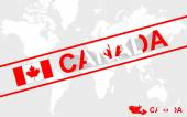 Canada map flag and text illustration