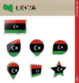 Libya Flag Set Flag Set 53 Vector