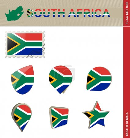 South Africa Flag Set, Flag Set 88