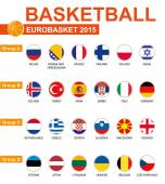 Basketball, Eurobasket 2015, All Groups, All Flags