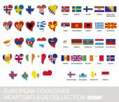European countries set hearts and flags part 2