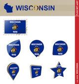 Wisconsin Flag Set Flag Set 287