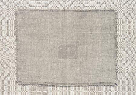 Photo pour Toile de fond en lin avec un motif de tissage colorant gris - image libre de droit