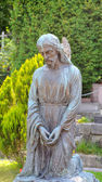 Stará socha muzeum Lyčakovský hřbitově ve Lvově, Ukrajina