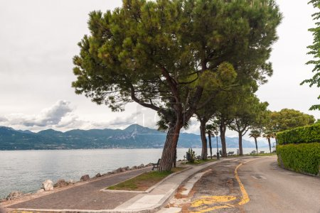 Pedestrian alley on the banks of Garda lake