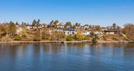 Photo pour Belle vue sur la banlieue de Stockholm - image libre de droit