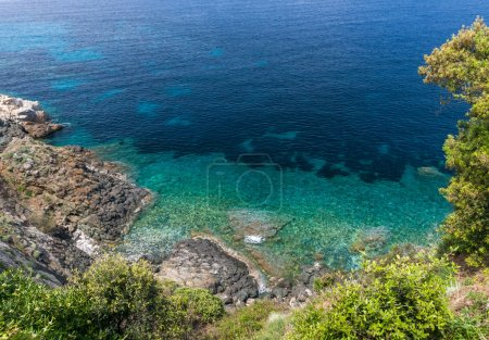 Island of Elba, sea and rocks