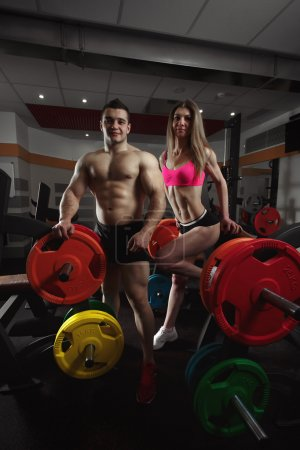 Fitness couple in the gym