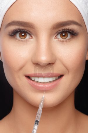 Injections of anti-aging facial