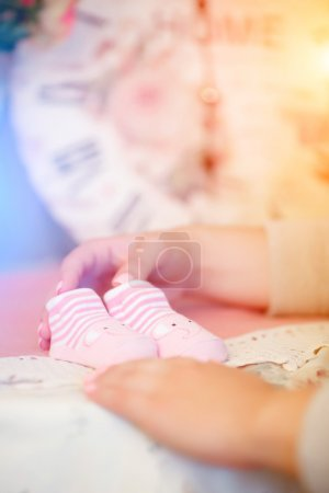 Baby pink booties