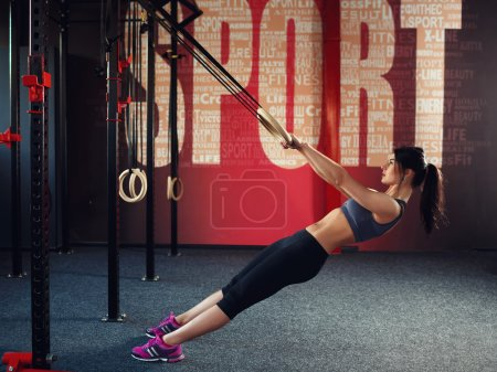 Crossfit workout on ring