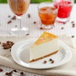 Постер, плакат: One slice of banana cheesecake