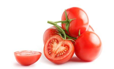Fresh tomatoes on a green stem