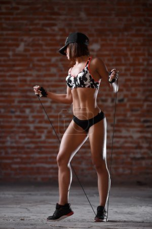 Sexy athletic woman