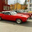 Постер, плакат: Plymouth superbird in red