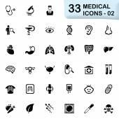 33 02 fekete orvosi ikonok