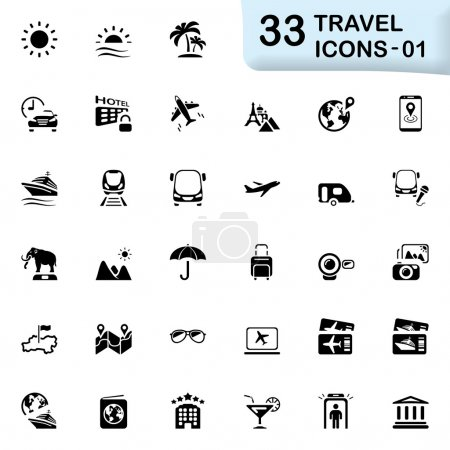 33 black travel icons 01