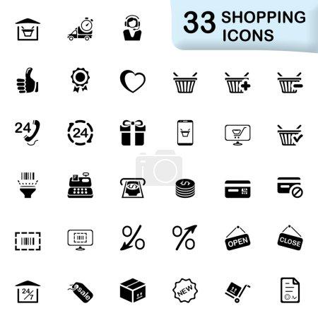33 black shopping icons