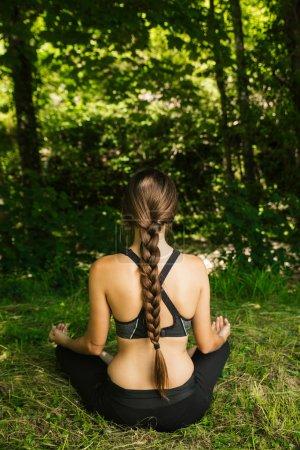 Young woman doing meditation