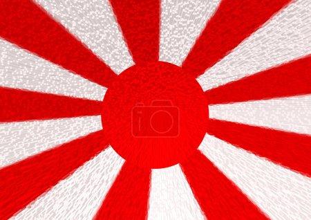 Flag of Japan illustration background