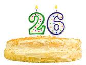 Narozeninový dort svíčky číslo dvacet šest, samostatný