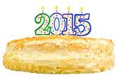 Narozeninový dort svíčky číslo 2015 izolované