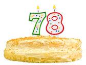 Narozeninový dort svíčky číslo sedmdesát osm