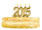 Narozeninový dort s svíčky číslo 2015
