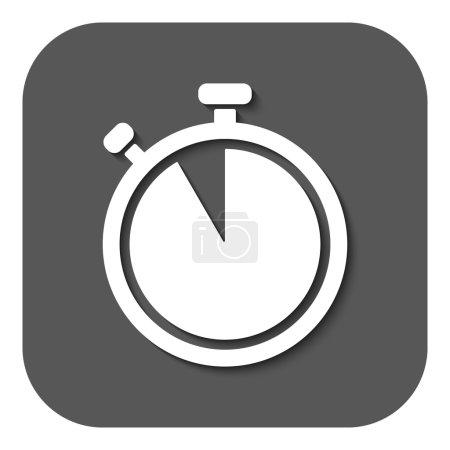The stopwatch icon. Countdown symbol. Flat
