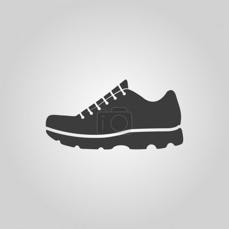 The sneaker icon. Shoes symbol. Flat Vector illustration