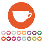 The cup icon Tea symbol Flat