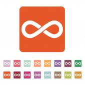 The infinity icon Infinity symbol Flat Vector illustration Button Set