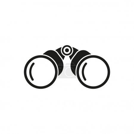 Illustration for The binoculars icon. Search symbol. Flat Vector illustration - Royalty Free Image