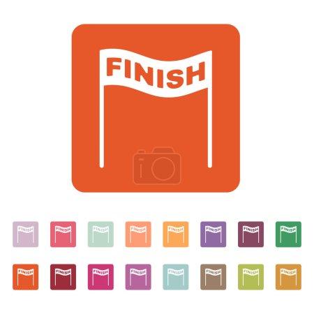 The finish icon. Finish symbol. Flat
