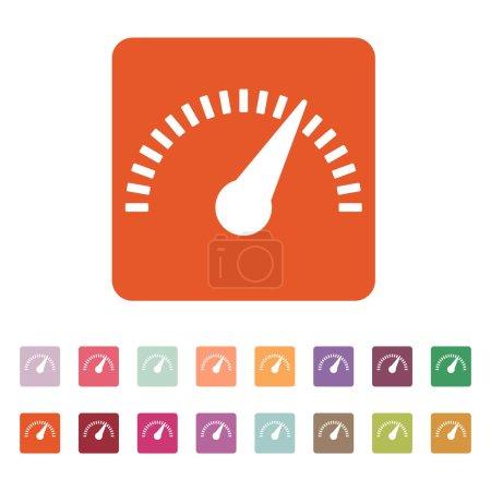 The tachometer, speedometer and indicator icon.