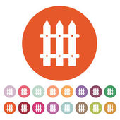The fence icon. Paling symbol. Flat