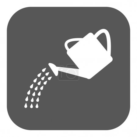 The watering can icon. Irrigation symbol. Flat