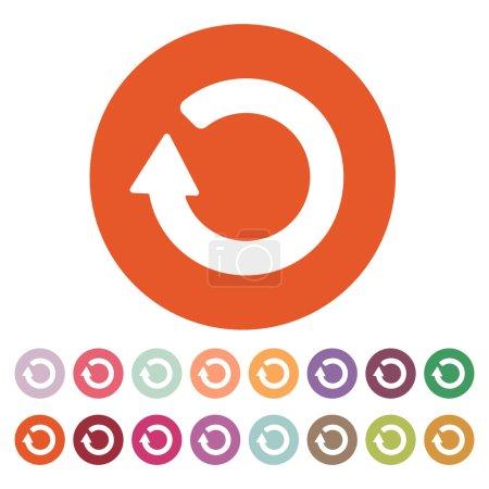 The refresh icon. Loading symbol. Flat