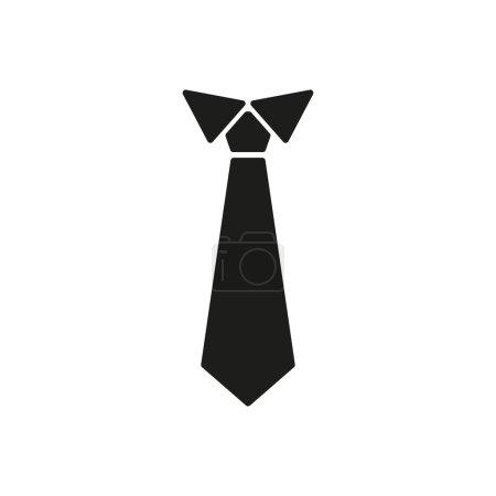 L'icône de la cravate. Cravate et mlissa symbole. Plat