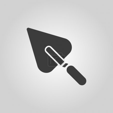 Illustration for The trowel icon. Mason and building, repair, plasterer symbol. Flat Vector illustration - Royalty Free Image
