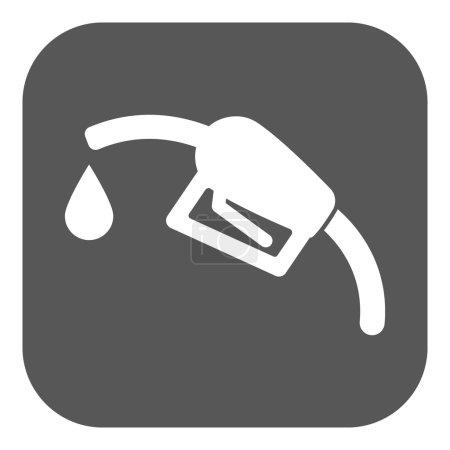 Illustration pour L'icône de la station-service. Symbole essence et carburant diesel. Illustration vectorielle plate. Bouton - image libre de droit
