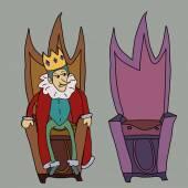 King on throne vector illustration